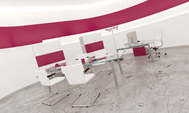 Modern design pink office interior Stock Images