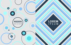 Modern Design Image Collection Vector Illustration. Modern design posters collection that consist of geometric shapes such as circles and squares, headline in Royalty Free Stock Photo