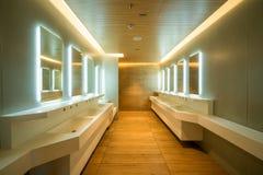 Modern design of public toilet and restroom