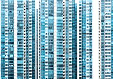 Modern design residential building glass facade royalty free stock image