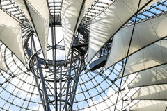 Modern design roof at Sony Center, Potsdamer Platz, Berlin. Futuristic modern design roof at Sony Center, Potsdamer Platz, Berlin, Germany Stock Photography