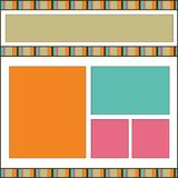 Modern design scrapbook page Stock Images