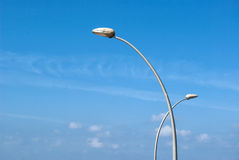 Modern design sculptured street lamp Royalty Free Stock Image