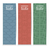 Modern Design Set Of Different Three Graphic Vertical Banners Royalty Free Stock Photography