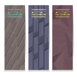 Modern Design Set Of Different Three Stripes Graphic Vertical Banners Royalty Free Stock Images