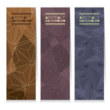 Modern Design Set Of Different Three Stripes Graphic Vertical Banners Royalty Free Stock Photo