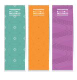 Modern Design Set Of Different Three Stripes Graphic Vertical Banners Royalty Free Stock Photography