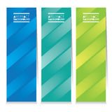 Modern Design Set Of Three Abstract Colorful Vertical Banners Stock Photo