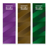 Modern Design Set Of Three Abstract Colorful Vertical Banners Royalty Free Stock Images