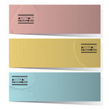 Modern Design Set Of Three Abstract Horizontal Banners Stock Photography