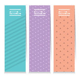 Modern Design Set Of Three Clean Graphic Vertical Banners Stock Photos