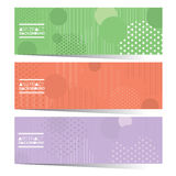 Modern Design Set Of Three Colorful Graphic Horizontal Banners Royalty Free Stock Photography