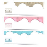 Modern Design Set Of Three Colorful Graphic Horizontal Banners Stock Photos