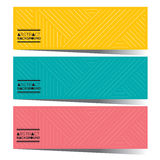 Modern Design Set Of Three Colorful Graphic Horizontal Banners Stock Photo
