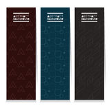 Modern Design Set Of Three Graphic Vertical Banners Stock Photos