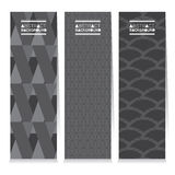 Modern Design Set Of Three Graphic Vertical Banners Royalty Free Stock Photography