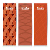 Modern Design Set Of Three Graphic Vertical Banners Stock Images
