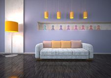 Modern design of sitting room  Stock Images