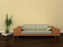 Modern design sofa. 3D rendaring of interior design Royalty Free Stock Image