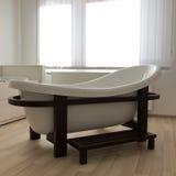 Modern design spa bath tub. In bathroom interior Stock Images