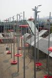 Modern design, stålstruktur Royaltyfria Bilder