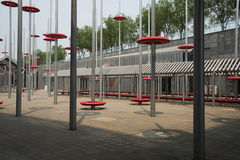 Modern design, stålstruktur Arkivbild