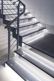 Modern design stairs with lights Royalty Free Stock Photos