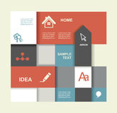 Modern Design template. Graphic or website layout Stock Image