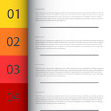 Modern Design template / can be used for infographics. Vector/Illustrator Royalty Free Stock Photo