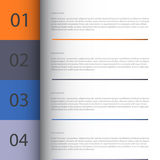 Modern Design template / can be used for infographics. Vector/Illustrator Royalty Free Stock Photos