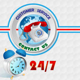 Modern design template for Customer Service and contact sign Royalty Free Stock Image