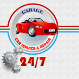 Modern design template for Garage, Car service and repair sign Royalty Free Stock Image