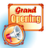 Modern design template for Grand Opening sign Royalty Free Stock Photo