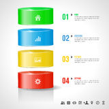 Modern design template for info graphics - place f Stock Image