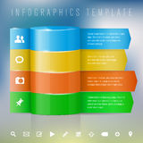 Modern design template for info graphics Stock Image