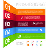 Modern design template for info graphics Royalty Free Stock Images