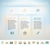 Modern design template for info graphics Royalty Free Stock Photos