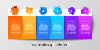 Modern Design template infographic banner for website, poster and web page stock illustration