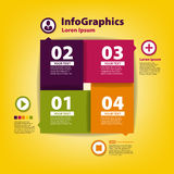 Modern Design template for infographic with icons Royalty Free Stock Images