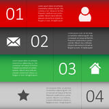 Modern Design template for Infographic website Stock Image