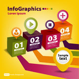 Modern Design template for infographics Stock Images