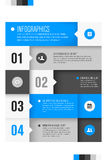 Modern design template for infographics Stock Photography