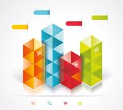Modern Design template isometric style. Can be used for workflow layout; diagram; number options; step up options; web design; banner template; infographic Stock Photos