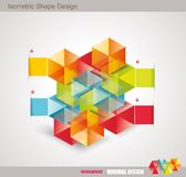 Modern Design template isometric style. Can be used for workflow layout; diagram; number options; step up options; web design; banner template; infographic Royalty Free Stock Images