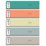 Modern Design template in pastel colors Stock Photo