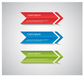Modern design template / procedure arrows. Royalty Free Stock Images