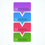 Modern Design template. vector Royalty Free Stock Photography