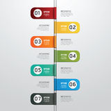 Modern design time line style infographic template . Royalty Free Stock Images