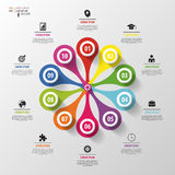 Modern design. Vector circle flower infographic. Template for diagram Royalty Free Stock Photography