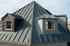 Modern vertical roof windows stock photography